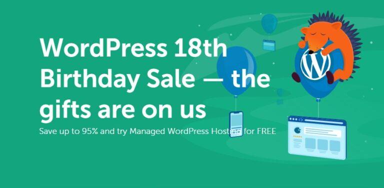 Namecheap WordPress 18周年活动