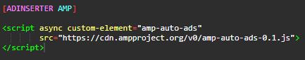 Ad Inserter 添加 AMP 代码